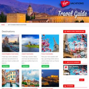 Virgin Vacations Blog Page